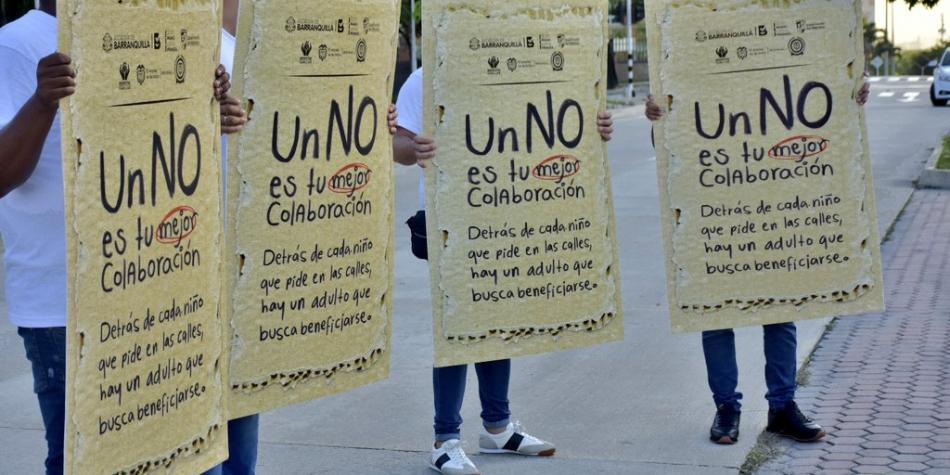 Campaña contra el trabajo infantil en Barranquilla