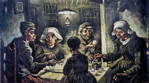 Van Gogh – El Comedor de patatas (1875)